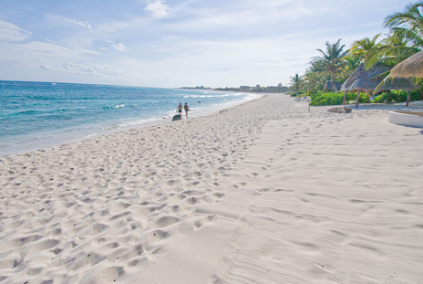 Villa Serenity has the nicest beach along the riviera maya coast
