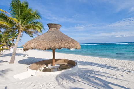 "The beach ""pit"" at Villa Serenity"