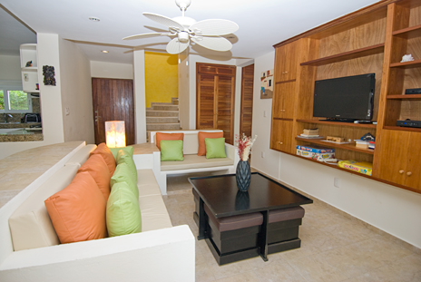Villa Serenity living area has satellite tv