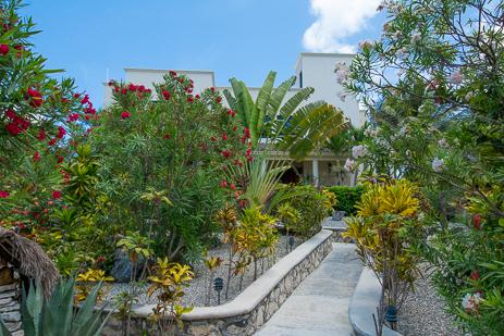 front view of Casa Soleada vacation rental villa on Tankah Bay