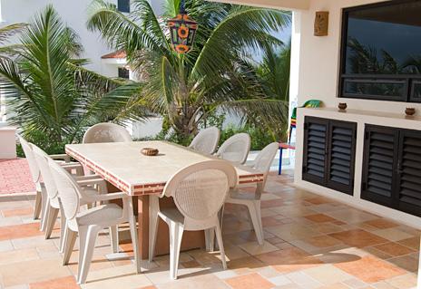 Another  patio at Casa Soleada vacation rental home south of Akumal