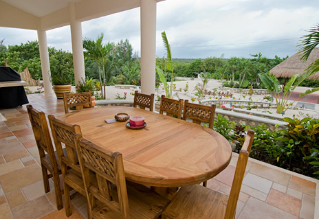 Outside dining area, Soleada in Tankah Mexico