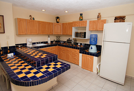 Guesthouse kitchen at Solymar vacation rental villa in Akumal, Mexico