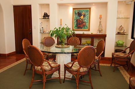 Dining room at Solymar vacation rental villa in Akumal