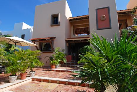 Front view of Solymar vacation rental villa in Akumal, Mexico