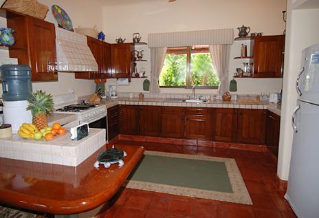Kitchen  at Solymar vacation rental home in Akumal Mexico