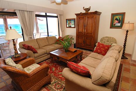 Living room at Solymar vacation rental villa in Akumal