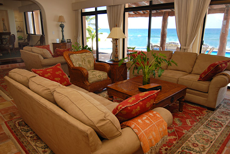 Second view of the living room at Solymar vacation rental villa in Akumal