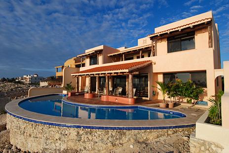 Exterior view of Solymar luxury vacation rental villa in Akumal