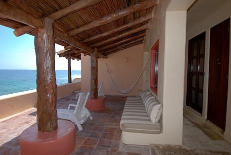 Second level patio area at Solymar vacation rental villa in Akumal