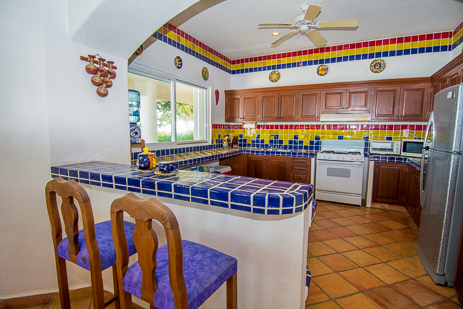 Kitchen at Casa de los Suenos luxury villa in Akumal