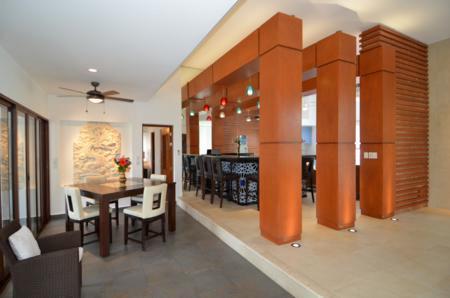 Dining Kitchen overview, Casa Texana Akumal Mexico