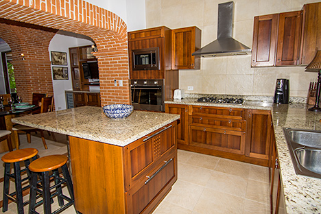 Texana kitchen Akumal vacation rental home