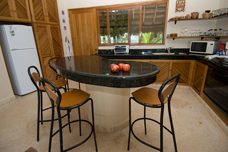 Kitchen area in Villa Mariposa is completely equipped