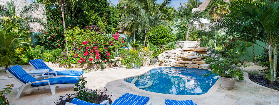 Casa Tranquilidad, 2 BR Akumal vacation rental on the Riviera Maya