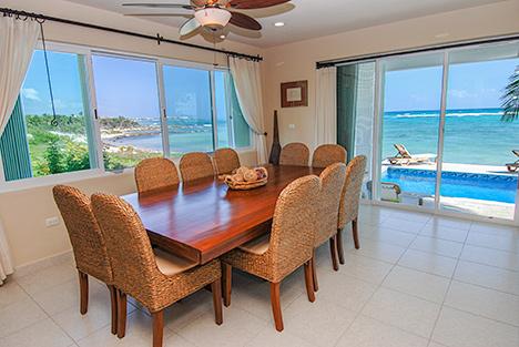 Dining room Villa Turquesa South Akumal vacation rental