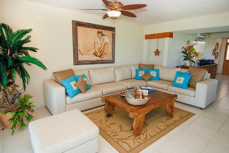 Living room Villa Turquesa South Akumal vacation rental