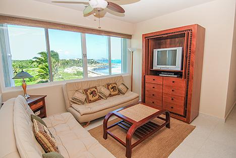 TV room Villa Turquesa South Akumal vacation rental