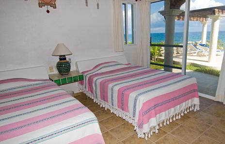 Bedroom #3 at Twin Palms Akumal vacation rental property
