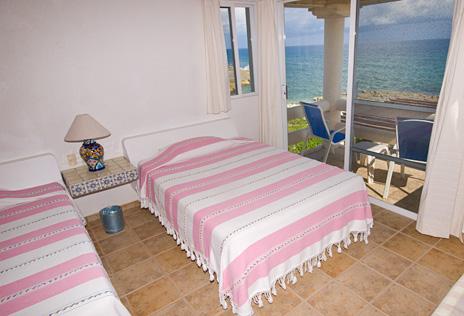 Bedroom #4 at  Twin Palms  vacation rental home in Akumal on Half Moon Bay