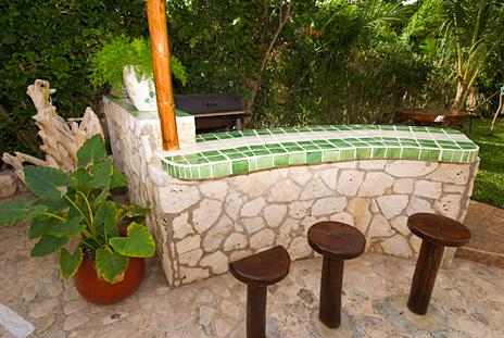 Barbecue area at U Nah Kin 2 BR Aventuras Akumal vacation rental condos