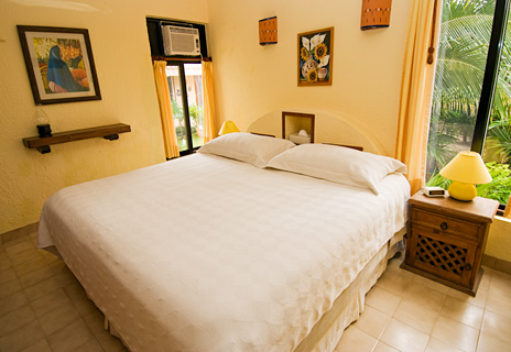Bedroom at U Nah Kin 2 BR Aventuras Akumal vacation rental condos