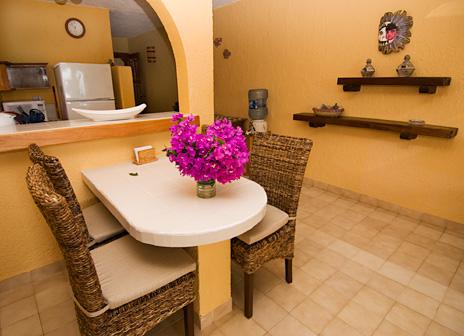 Dining room at U Nah Kin 2 BR Aventuras Akumal vacation rental condos
