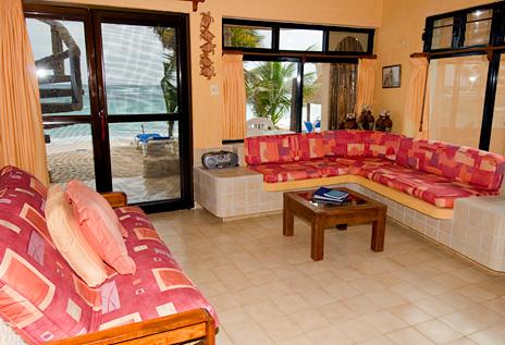 Livingroom at U Nah Kin 2 BR Aventuras Akumal vacation rental condos