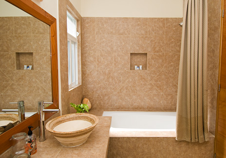 Bathroom at Vallhalla  luxury vacation rental villa in Akumal