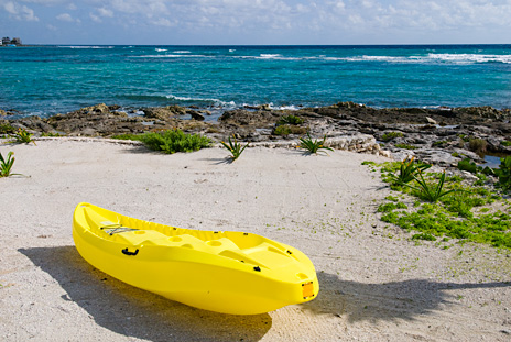 Sea kayak at Villa de Vallhalla  luxury vacation rental villa in Akumal