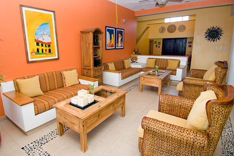 Another view of the living room at Villa de Vallhalla Akumal luxury vacation rental villa
