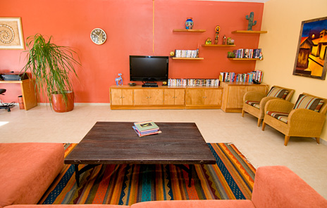 Entertainment room at Vallhalla  luxury vacation rental villa in Akumal