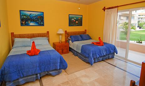 Second bedroom at Villa del Mar vacation condo in Puerto Aventuras