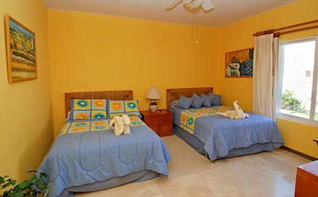 Second bedroom at the Villa del Mar rental condos in Puerto Aventuras, Riviera Maya