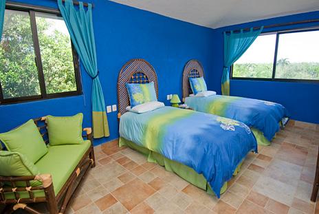 Bedroom #3 at La Via 5 BR Akumal vacation rental property