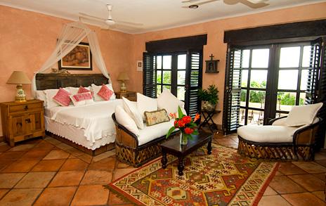 master bedroom at  Las Vigas 2 BR Akumal vacation rental villa