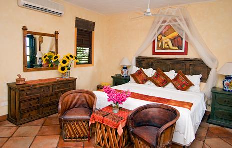 Second bedroom at  Las Vigas 2 BR Akumal vacation rental villa