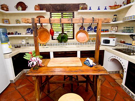 Kitchen at Las Vigas 2 BR Akumal vacation rental villa