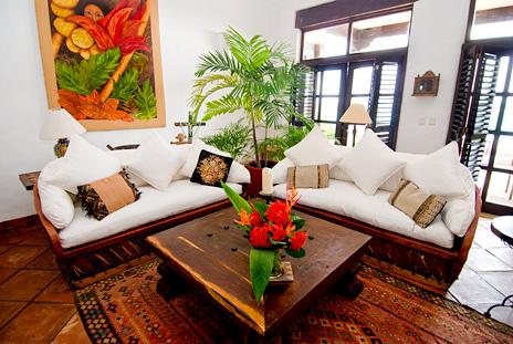 Living room  at  Las Vigas 2 BR Akumal vacation rental home