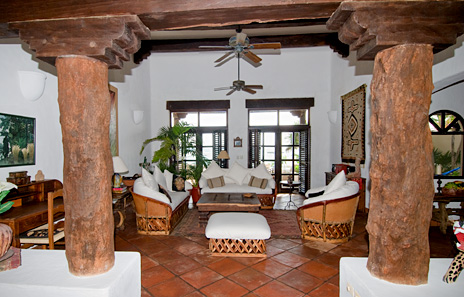 Another view of the living area  at  Las Vigas 2 BR Akumal vacation rental property