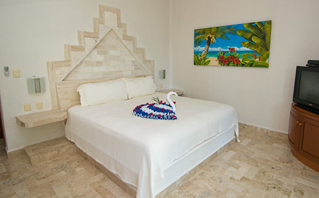 Bedroom #3 at Villa Iguana Soliman Bay vacation rental home