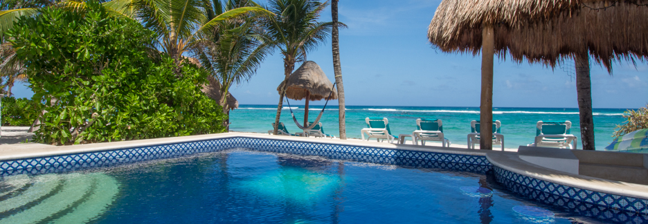 Casa Gray is 3 BR vacation rental villa in Aventuras Akumal on the Riviera Maya