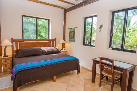 Loft sleeping area #1 at  Casa Yamulkan vacation rental villa on Soliman Bay