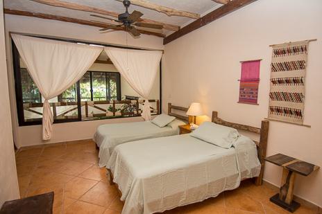 Loft sleeping area #2 at  Casa Yamulkan vacation rental villa on Soliman Bay