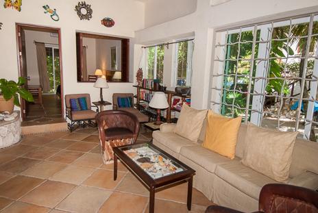 Living room at  Casa Yamulkan vacation rental villa on Soliman Bay