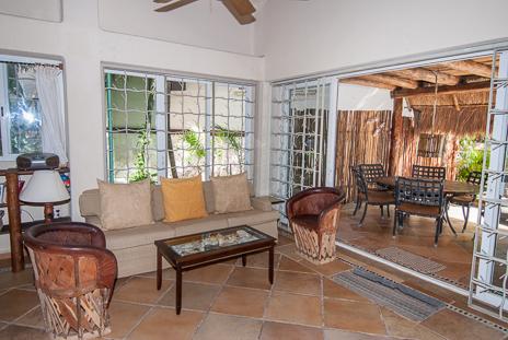 Another view of the living room at  Casa Yamulkan vacation rental villa on Soliman Bay