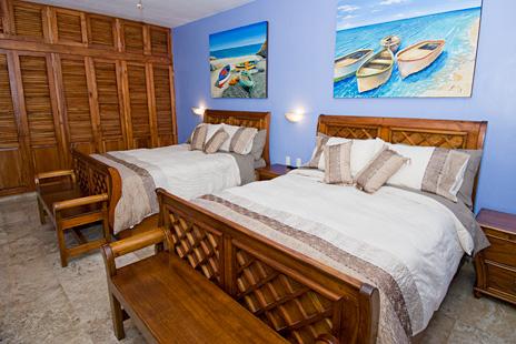 Bedroom #8  at Villa Yardena Vacation Rental villa on Soliman Bay