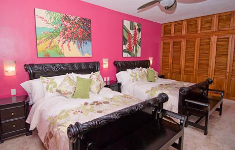 Bedroom #6  at Villa Yardena Vacation Rental villa on Soliman Bay
