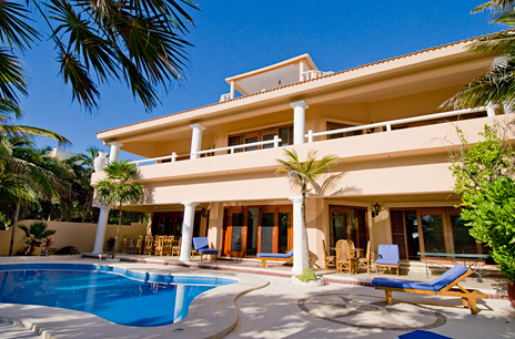 Exterior and pool view  of Yardena Soliman Bay Luxury Vacation Rental Villa
