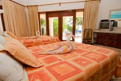 Bedroom #1  at Villa Yardena  luxury Vacation Rental villa on Soliman Bay